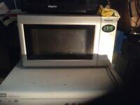 Panasonic silver microwave,£35.00
