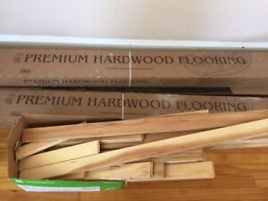 """About 30 sq ft of 2 1/4"""" Hickory solid hardwood flooring"""
