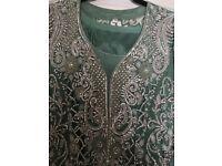 Ladies mint green wedding/party wear uk size 38