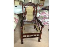 Veranda chair in need of re caning
