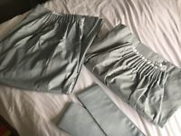 Duck egg blue pleated curtains from Dunelm