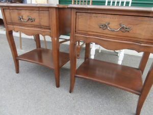 Bedside or end table x 2. Malcolm Furniture Canada. Cherry wood