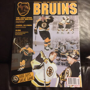 1999-2000 Boston Bruin hockey yearbook