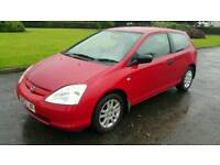 """2003 Honda civic 1.4 inspire """"low mileage"""" moted December"""