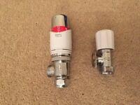 Drayton radiator valve and lock shield central heating thermostat