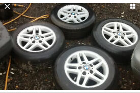 "15"" BMW ALLOYS WITH GOOD TYRES"