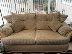 Two seater sofa and one chair - excellent condition