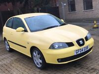 2004 SEAT IBIZA 2.0 SPORT PETROL MANUAL 3 DOOR HATCHBACK ALLOYS 5 SEATS POWERFUL FAST NOT GOLF POLO
