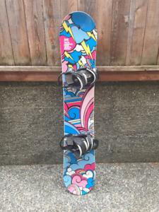 Jeenyus Snowboard & Burton Bindings