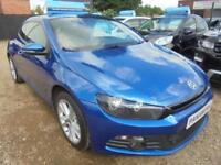2009 58 VOLKSWAGEN SCIROCCO 2.0 TSI GT 3DR 200 BHP FINANCE WITH NO DEPOSIT AND N