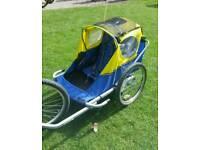 2 seater childrens bike trailer/buggy