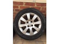 4 tires with alloy wheel vauxhall 205/65 R15