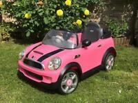 Pink Electric Mini Car