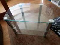 Tv cabinet chrome /glass