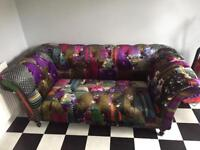 Vintage style chesterfield sofa