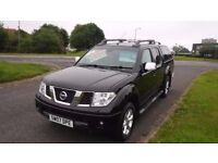 NISSAN NAVARA 2.5 AVENTURA DCI 4X4,AUTO,2007,1 Owner,Alloys,Air Con,Leather,Sat Nav,Cruise,Sunroof