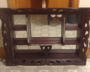 Antique Victorian large framed Shadow Box