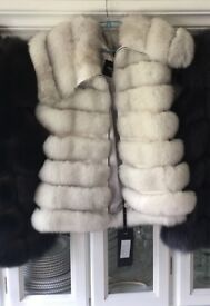 Natural polar fox fur vest gilet