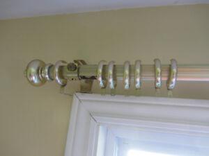brass drapery rod