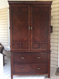 wardrobe/entertainment centre with 2 drawers