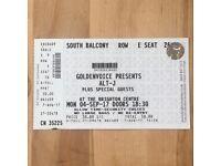 Alt-J Ticket for 4th September at Brighton Centre