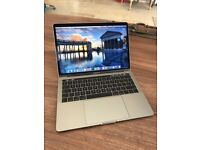 Apple MacBook Pro. Late 2016 touch bar. 3.3GHz i7 Intel Core. 16GB. Space Grey. Leather sleeve.
