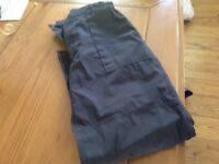 Boys navy scout trousers