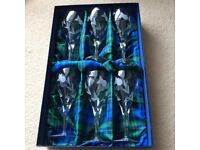Gleneagles crystal St Andrews wine glasses x6