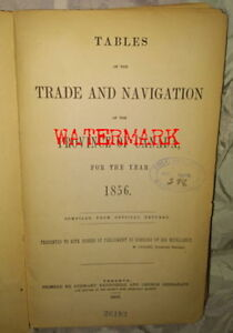 RARE PRE-CONFEDERATION CANADIAN TABLES OF TRADE, 1856