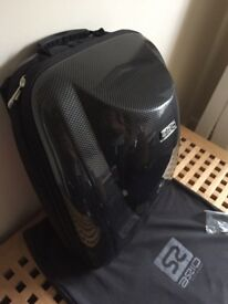 Motorcycle backpack carbon fibre shell by AXIO SWIFT