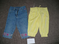 Bundle of 2 cropped jeans and joggers for girl 6-7 years old.