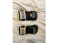 Fairtex FGV15 Black MMA Sparring Gloves- Medium size