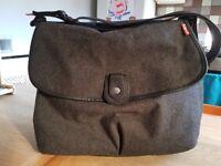 Babymell grey tweed changing bag