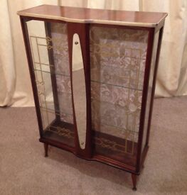Retro 1950's China Cabinet - Vintage - FREE Delivery Available