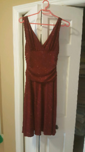 Deep red size small dress