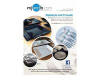 Premium Party Plastic Disposable Tableware, Drinksware and Cutlery Items