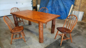 Unique rustic barn look dining table kit
