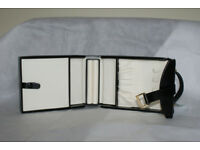 Vicenza Black Leather Travel Jewellery Case