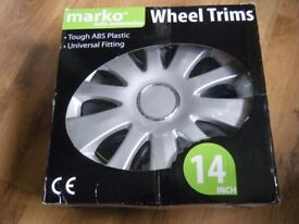 Multi Spoke Car Wheel Trims 14inch ABS (new)