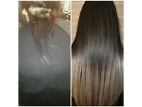 Hair extension, tape extensions, weaves and bonds.