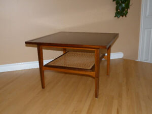 Gorgeous Refinished Mid Century Solid Teak Square Coffee Table