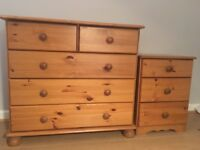 Chest of drawers and side table £40 ONO