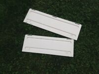 Dometic fridge grille covers for motorhome or caravan.