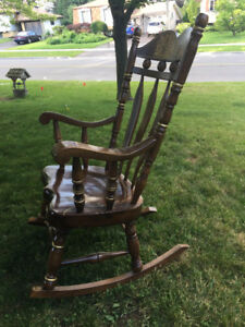 Thick Solid Wood Rocking Chair