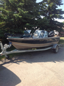 Lund prosport with 90hp evinrude etec for sale