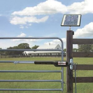 solar powered dual gate opener with remotes and control pad