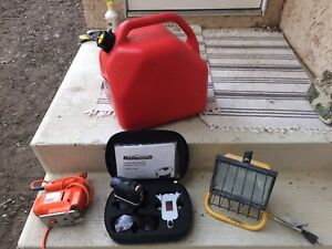 Master craft, black and decker, jerry can, light