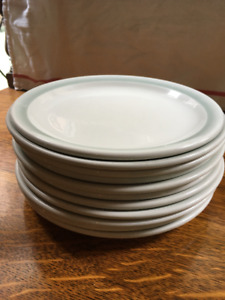 Grindley duraline seafoam green dinner plates (11)