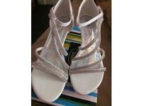 White diamanté shoes