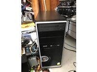 INTEL DUAL CORE DESKTOP 3.4GHZ, 2GB RAM, 250GB HDD, NVDIA GEFORCE, WIFI DVD WINDOWS 7 ONLY £40